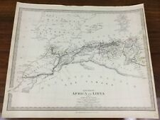 More details for 1840 antique map of the sahara africa libya chapman hall victorian old chart
