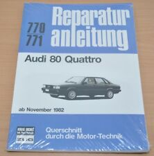 AUDI 80 Quattro Typ 85 B2 ab1982 Motor Kupplung Bremsen Reparaturanleitung B770