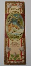 Vintage 1904 Victorian Bookmark Peebles Candy Candies Trade Card Cincinnati Ohio