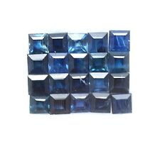 20 Pcs / 3.20 Ct Natural Blue Sapphire Square 2.6 mm to 2.7 mm Gemstone Lot