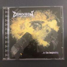DEMOLITION IN THE BEGINNING EP CD 1998 NEW THRASH METAL SPEED POWER