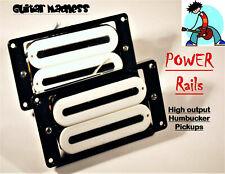 Artec Power Rails High Output Fat Rail Humbuckers White / Chrome Rails X2N Style