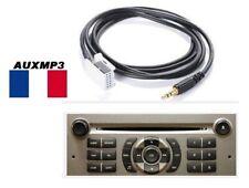 Cable auxiliaire adaptateur mp3 pour autoradio PEUGEOT 407 RD4 12pin iphone