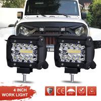 2X 4inch 200W CREE LED Work Light Bars Offroad Spotlight Work Driving Lamp Truck