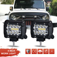 2X 4inch 200W LED Work Light Bars Offroad Spotlight Work Driving Lamp Truck