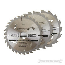 Circular Saw Blades 165mm 3 x Blades 16, 24 & 30Teeth with GREAT VALUE For wood