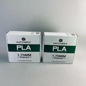 Lot of 2 Hatchbox 1.75MM PLA Filament 1KG Spools NEW Blue + Black 3D Printer