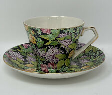 Vintage LORD NELSON WARE England CHINTZ Teacup And Saucer BLACK BEAUTY