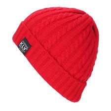 Unisex Women Mens Knitted Beanie Hat Winter Warm Crochet Ski Slouchy Caps Warmer