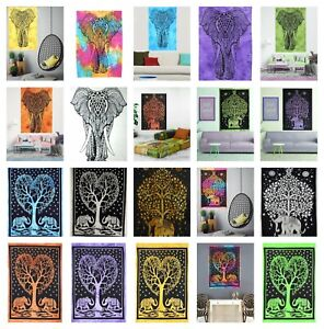 Elephant Wall ART Tapestries Indian Mandala Cotton Room Decor Poster Table Cloth