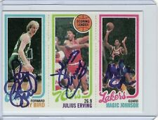 Larry Bird, Magic Johnson autographs Rookie 1980 / Reprint