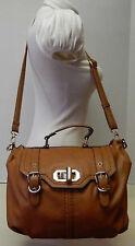 31bd4766c4e Aldo Cognac Brown Satchel Crossbody Shoulder Bag Handbag Purse