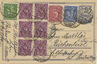 DEUTSCHES REICH 1922, 75 Pf Postreiter GA-Postkarte m. MiF NUR 30 TAGE MÖGLICH