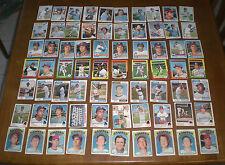 140 TEXAS RANGERS BASEBALL CARD COLLECTION 1972 - 1985