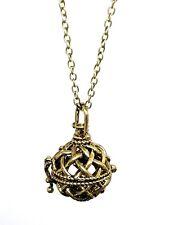 Witch Ball Croisillon Pendentif Rosemarys Bébé Protection Argent Tone Necklace