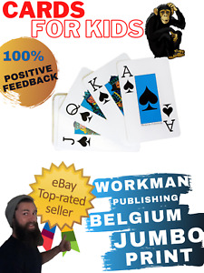 "Workman Publishing ""CARDS for KIDS"" Belgium Print Jumbo/Large Playing Card Deck"