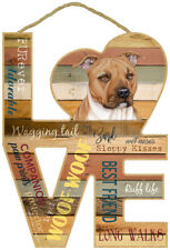 Pit Bull Dog Wood Decorative Hanging Sign Plaque Home Gift Pit Bull Terrier