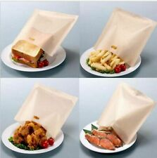 2x Toaster Pocket Bags - Non-Stick Reusable Toastie Sandwich Baking Pouch