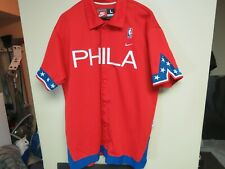 Vintage NBA Nike Philadelphia 76ers PHILA Embroidered Shooting Shirt (Sz L)