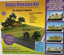 SceneArama Basic Diorama Kit -Woodland Scenics for School Projects Grass Shrubs