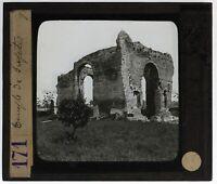 Italia Roma Tempio Da Jupiter Foto n9 Placca Da Proiezione Lanterna Magica
