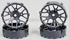 Tetsujin LYCORIS RC Car 1/10 Wheels BLACK Adjustable Offset 3-6-9mm -4 RIMS