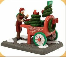 Department 56 Christmas In the City CITY WREATH SELLER 4020944 BNIB Retired