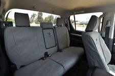 Black Duck Canvas Rear Bench Seat Cover for Ford Ranger PX Dual Cab 2011-2015