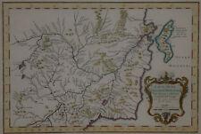 1750 Genuine Antique Map Manchuria, China, Amur River, Sakhalin. by J.N. Bellin