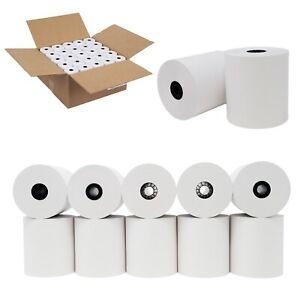 "3""x150' Bond Kitchen Printer/Cash Register/Receipt Tape Paper - 50 rolls/cs"