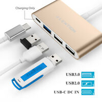 LENTION USB Type C to USB 3.0 Splitter HUB PD Power Adapter for 2020 MacBook Pro