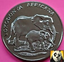 1986 Rare African Bush Elephant Preserve Planet WWF For Nature Coin Medal