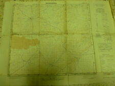 Beersheva Negev Map 50*70 Cm On Palsetine Edition 1956 Israel