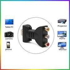 Audio Adapter HDMI Klinke Stecker auf 3 Cinch Chinch Buchse Konverter für TV TOP