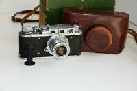 Rare Zorki-1 VINTAGE USSR Copy Leica Film Camera w/s lens industar-22 EXCELLENT