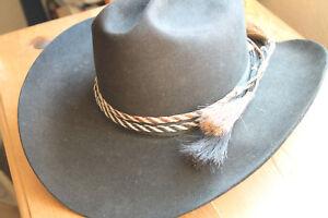 Western Horse Hair Flat Hatband Rodeo Cowboy Narrow Horsehair Hat Band