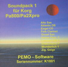 PEMO Software Soundpack 1 für Korg Pa800 oder Pa2Xpro