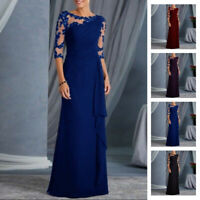Womens Formal Wedding Bridesmaid Evening Party Cocktail Dress Ball Gown Prom AU