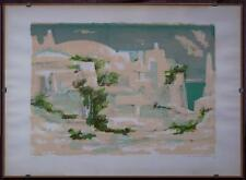 litografia colorata h.c. '74 Peschici Gargano Romano Conversano Rovigno d'Istria