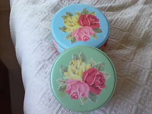 Cath Kidston vintage royal  province rose storage  tins. In good used condition