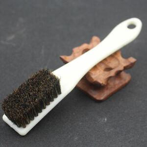 New 6 Row Boar Hair Black Bristle Walnut Olive Clean Brush Hard-brush