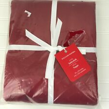 "Williams Sonoma Hotel Tablecloth 70"" X 126"" Red NEW"