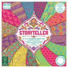Dovecraft First Edition 8x8 Paper Pad - STORYTELLER - Scrapbooking Cards