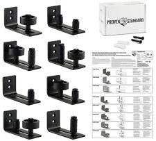 Barn Door Floor Guide Stay Roller - Black Powder Coated Adjustable Wall Mount