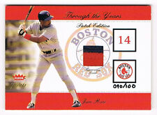 2002 Fleer Greats Through The Years Jim Rice 90/100 GU Patch Ed. Boston Red Sox