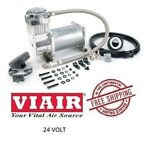 VIAIR 150PSI 1.80CFM 300 Series 325C 24V Compressor Universal Fit 32538 Silver
