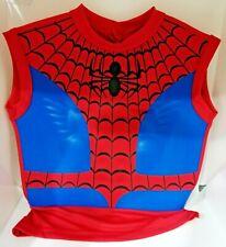 Costume Buste Musclé Spiderman Enfant Déguisement Super Héros + Cagoule Carnaval