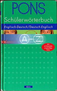 PONS Schülerwörterbuch, Englisch - Deutsch / Deutsch - Englisch