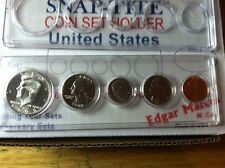 Snaptite Mint Set Holders; 5 Hole: Cent - Half Dollar; Made in USA; Lot of (4)