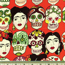 By Yard-Gotas de Amor Day of the Dead Fabric by Alexander Henry 7925E Cantaloupe